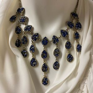 INC teardrop chandlier necklace